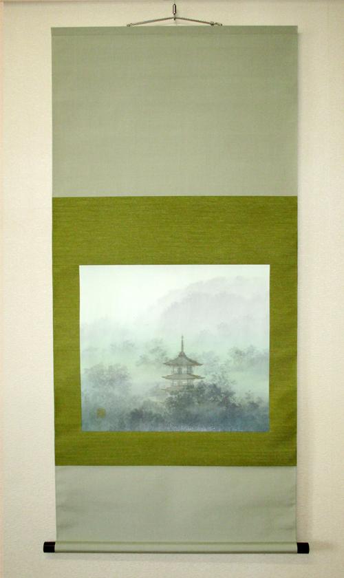 日本画を二段表具仕立